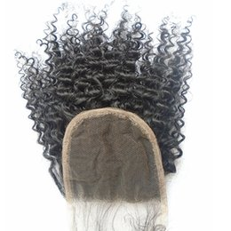 Free way curly part online shopping - Afro Kinky Curly Brazilian Human Hair Lace Closure With Baby Hair Unprocessed Virgin Hair Swiss Lace Top Closure Free Middle Way Part