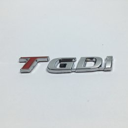 $enCountryForm.capitalKeyWord UK - Metal TGDI Emblem Car Rear Trunk Lid Emblem Badge Sticker For Kia For Hyundai T Gdi Logo