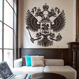 eagle decor UK - removable wall stickers home decoration Vinyl Russian energy eagle Wall Sticker removable house decor country animal beautiful decals