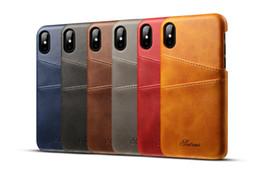 $enCountryForm.capitalKeyWord UK - Custom logo Case For iPhone 8 8 Plus 7 7 Plus Cover Leather Luxury Wallet Card Slots Back Capa For iPhone 7 8Plus Cases Fundas