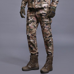 camouflage paintball 2019 - Winter Shark Skin Soft Shell Tactical Military Camouflage Pants Men Windproof Waterproof Warm Camo Paintball Army Fleece
