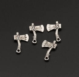 $enCountryForm.capitalKeyWord NZ - Hot sell ! Tibet silver Zinc Alloy Axe charms 22x13mm DIY Jewelry (380)