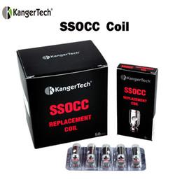Subtank atomizer original online shopping - 100 Original Upgrade Kanger SSOCC Vertical Coils Organic Cotton Coil OCC SSOCC Coil Replacement Coil Head For Kangertech Subtank Atomizer