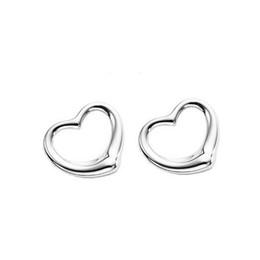 Опт 925 Серебряные Серьги Стержня Сердца Для Женщин Высокого Класса Мода Сердце Серьги Ювелирные Изделия Горячий Продавать 8167