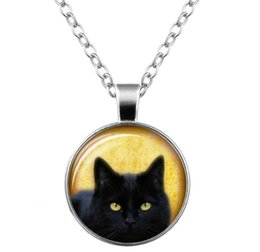 party glasses chain 2019 - 2018 Hot sales black cat Time gem necklace glass Sweater chain Necklace men women Jewelry + Free shipping 0414 discount