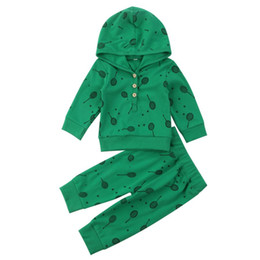 $enCountryForm.capitalKeyWord Canada - Newborn baby boy sport toddler hooded top+pants 2pcs set green outfit tennis button hoodie kid clothing cotton boys boutique costume