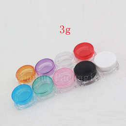 Packaging For Lipstick Australia - Square Clear Plastic Cream Jar,3G Small Containers For Travel,Empty Lipstick Containers,Refillable Cream Jars Cosmetic Packaging