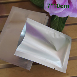 """vacuum sealed coffee bags 2019 - 7x10cm (2.8x3.9"""") Open Top Matte Aluminum Foil Heat Seal Vacuum Packing Packaging Pouch Mylar Food Storage Package"""