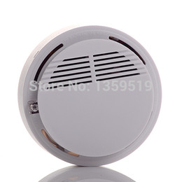 Wholesale Wireless Fire Smoke detector sensor alarm Home Security System White in retail package dropshipping