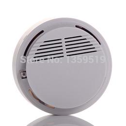 Toptan satış Kablosuz Yangın Duman dedektörü sensörü alarm Ev Güvenlik Sistemi beyaz perakende paket dropshipping 200 adet / grup
