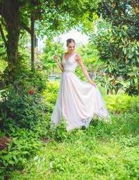 Hot Sexy White Dresses Canada - 2018 hot sale Vestido De Novia sexy V neck white zipper Boho beads Wedding Dress appliques A line wedding gown free shipping