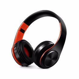 Chinese  6 colors New Arrival colorful stereo Audio Mp3 Bluetooth Headset Foldable Wireless Headphones Earphone support SD card with Mic manufacturers