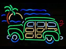 $enCountryForm.capitalKeyWord NZ - CAR Neon Sign Real Glass Tube Bar Club Business Advertising Home Decoration Art Gift Display Metal Frame Size 20''X15''