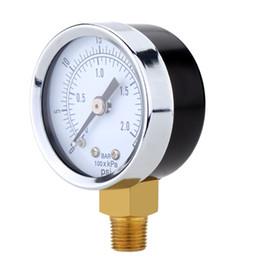 Venta al por mayor de Indicador de presión hidráulica Gage Mini instrumentos de medición de presión Manómetro de dial fino Medidor de compresor de aire de doble escala orden $ 18no track