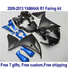 $enCountryForm.capitalKeyWord Canada - 7 free gifts fairing kit for YAMAHA R1 2009-2013 matte black blue fairings set YZF R1 09 10 11 12 13 HA63