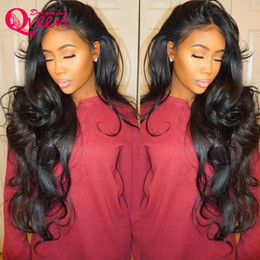 young wigs 2019 - Body Wave Wigs with baby hair Glueless Brazilian Virgin Hair Hot Sexy Lace Frontal Wigs for Young Women cheap young wigs