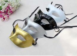 $enCountryForm.capitalKeyWord Canada - Cheap gold Venetian masquerade masks for Halloween masquerade balls Mardi Gras Prom Dancing Party half eye silver Masks for men and women