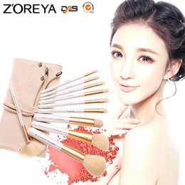 tool sets for women Australia - Zoreya 10pcs Professional Cosmetic Tools Makeup Brush Set for Beauty Women Foundation Powder Blush Eyeliner Make Up Brushes