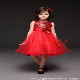 BaBy red roses dresses online shopping - Pettigirl Baby Girls Dresses Sequins Rose Flower Infant Girls Princess Dresses Top Qulity Children Clothing GD31126