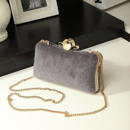 Pearl Clutch Bags Canada - New Fall Women Clutch Evening Bags with pearl and chain Fashion Ladies Shoulder Cross Body Bags