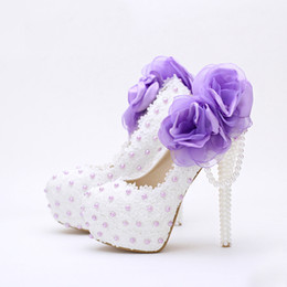 Cute Wedding Shoes Canada - White Lace Birthday Party Shoes Women Spring Appliques Mother of Bride Shoes Sweetness Cute 2016 Handmade Wedding Shoes