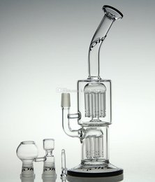 """$enCountryForm.capitalKeyWord Canada - Newest 10.5"""" with brand logo 14 Arm perc Glass Bong glass bubbler water pipe oil rig with 14.4mm joint Water Pipes"""
