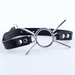 $enCountryForm.capitalKeyWord NZ - Stainless Steel Butterfly Ring Open Mouth Gag Ball Gag BDSM Toys Chastity Device SM Bondage Restraints Bondage Body Harness Oral Sex Toys
