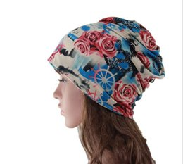 Popular Hats For Women Canada - Hot sale High Quality Cotton Beanies Korean fashion new popular multi-functional Pattern Knitted hat Winter Warm Hats For Women