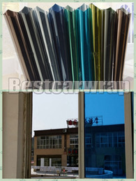 Glass films windows stickers online shopping - various Color Privacy Mirror Window Film Self Adhesive Sticker Window tint glass protection foil covering x30m x98ft
