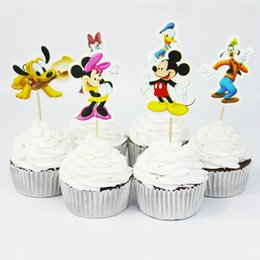 $enCountryForm.capitalKeyWord Canada - New Arrival Cute MK Mouse Cake Decorating Tools Fruits Cupcake Inserted Card Stands For Kids Birthday and Xmas Decoration Supplies