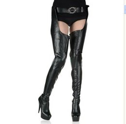 "Chinese  Wonderheel Crotch boots wtih belt 15cm heel thigh high sexy 6"" heels matte platform boots zipper over the knee SEXY FETISH BDSM boots manufacturers"