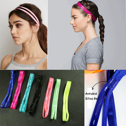 silicone hair rubber bands Canada - High quality 10 color Women Yoga Sports Headbands Elastic Rubber Gym Running Hairbands Anti-slip Silicone Rubber Hair Bands