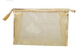 10pcs 2017 High Quanlity PVC Mesh Cosmetic bags Women waterproof Transparent Multi-functional stereo Beach Bags Fashion Clutch Storage Bags