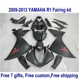 r1 11 Canada - ABS motorcycle fairing kit for YAMAHA YZF-R1 2009-2011 2012 2013 all matte black YZF R1 fairings set 09-11 12 13 HA47