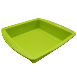 $enCountryForm.capitalKeyWord UK - Non-stick Silicone Dish Wax Container Deep Pan Oil Square Tray Dab Tool Holder Food Grade 8.7''