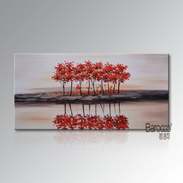 $enCountryForm.capitalKeyWord NZ - Abstract Red Tree Painting Hand Painted Scenery Oil Painting Modern Home Art Wall Decoration No Framed