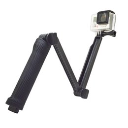 Chinese  3 Way Grip Waterproof Monopod Selfie Stick For Gopro Hero 5 4 3 Session SJ4000 Xiaomi Yi 4K Camera Tripod Go pro Accessory manufacturers