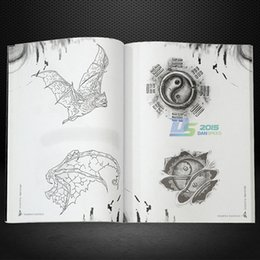 Dessins De Dessins Pas Cher-Wholesale-Tattoo 152 Page Art Wolf Animal Skull Design Livre de référence Flash Sketch Outline