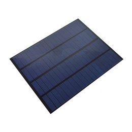 Wholesale solar panels 5W online shopping - 10Pcs W V Mini PET Laminated Solar Cell Panel DIY Polycrystalline Solar Cell Size mm for School Education and Test