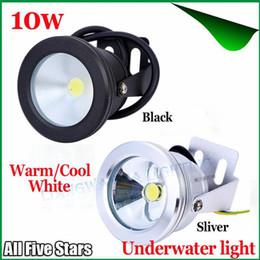 12v Underwater Lights Canada - LED Underwater Light IP68 10W 12V Warm Cool White Underwater Light Led Spotlight Fountain Pond Pool Light Aquarium Piscina Lamp