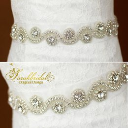 Brides Belts online shopping - 2020 Cheap Bride Dresses Belts Popular Beautiful Bridal Accessories Crystals Rhinestone Bridal Dress Sash for Wedding Party XNYD001 R