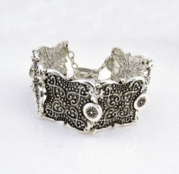 $enCountryForm.capitalKeyWord Canada - Turkish Bohemian Jewelry Antique Silver Coin Butterfly Bracelet Bijoux Femme Gift 2016 Hot Bracelets & Bangles Wholesale 10Pcs