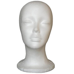 Glass wiG heads online shopping - Free shiping male Mannequin Head Hat Display Wig stand glass display model female hat model