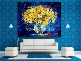 modern flower oil painting canvas Canada - Brilliant Flowers Modern Art Decor Palette Knife Oil Painting Printed On Canvas Wall Art Picture For Office Home