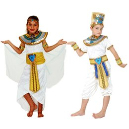 Robe De Cosplay D'egypte Pas Cher-Costume d'Halloween Egypte Prince Princesse Pharaon Cosplay Déguisements