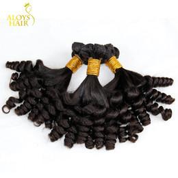 human hair weft extensions uk 2019 - 3PCS Lot Grade 8A Aunty Funmi Hair Unprocessed Virgin Mongolian Human Hair Weave Bundles Bouncy Spring Curls Hair Extens