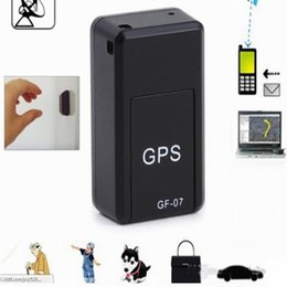 Wholesale Anti Lost Alarm Mini GF Realtime GSM GPRS Tracker KID Car Dog System Tracker Device Magnetic Locator Positioning Telemonitoring Listen