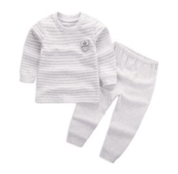 Chinese  Can Custom Best Quality 2017 children's wear Boy and Girl Long sleeve infant suit 60-110 cm child baby Clothing 2 piece suit Cotton clothes manufacturers