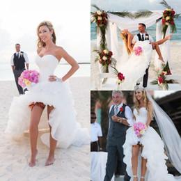 new arrival 2017 cheap short beach wedding dresses seetheart corset back a line high low wedding gowns under 100