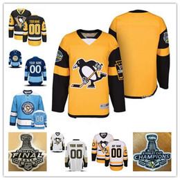 Custom 2018 Pittsburgh Penguins mens womens youth Black Third Gold Yellow  White Navy Blue Winter Classic Stadium Series Hockey Jerseys cab5b4454